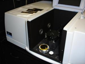 A Perkin-Elmer 750 IR spectrophotometer repaced our Beckman DK2A.