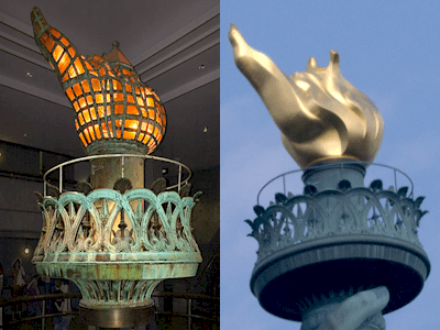 Lee Iacocca, The Statue of Liberty's Gold Flame and Epner makes a tough choice